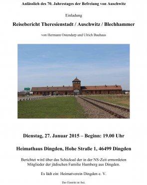 Reisebericht Theresienstadt / Auschwitz / Blechhammer